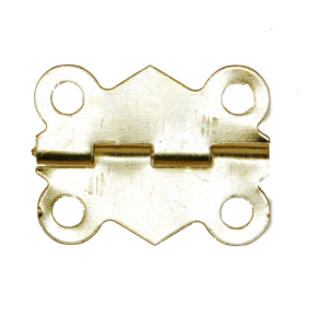 Brass Butterfly Hinge with Screws pack of 10