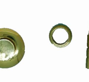Gold Plated Button Catch per 10