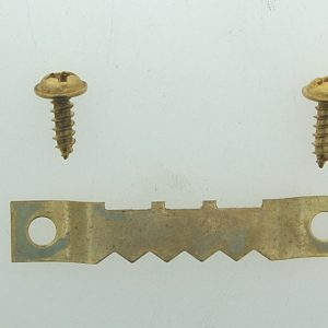 4 Gilt Saw Tooth Hanger with Screws per 100