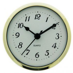 36mm Metal Insert Clock Gold Bezel White Arabic Dial - Mayama