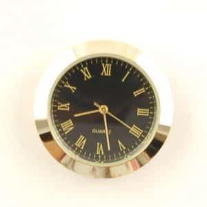 36mm Clock Insert Black Roman Metal