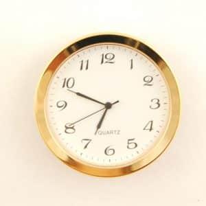 50mm Clock 34mm Insert Metal White Arabic