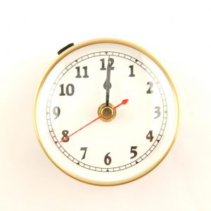 90mm Deluxe Clock Insert White Arabic