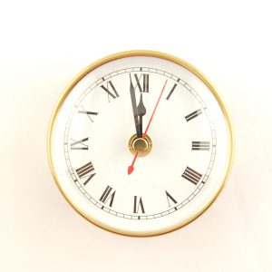 90mm Deluxe Clock Insert White Roman