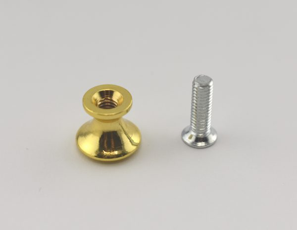 12.5 mm Gold Plated Draw Knob (or Box Foot with Screw)