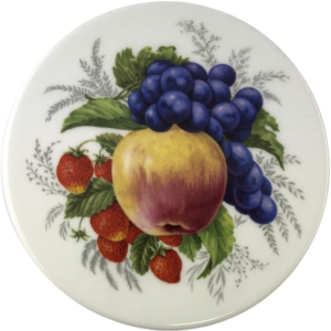 Cheese tile with Apple and Berry Design