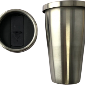 Stainless Steel Travellers Mug 16 oz with screw on lid